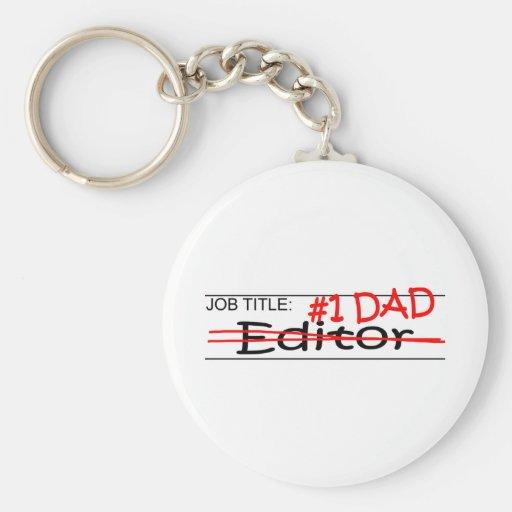 Job Dad Editor Keychains