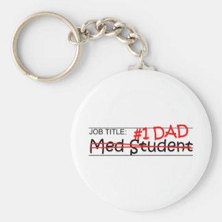 Job Dad Med Student Keychains