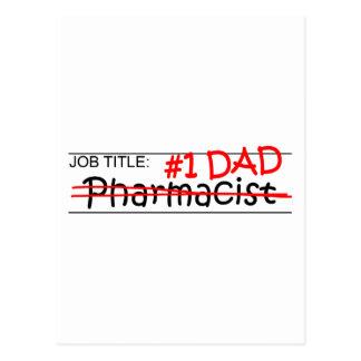 Job Dad Pharmacist Postcard