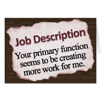 Job Description  Greeting Cards