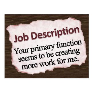 Job Description  Postcard