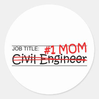 Job Mom Civil Eng Round Sticker