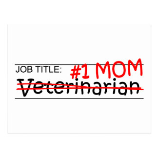 Job Mom Vet Postcard