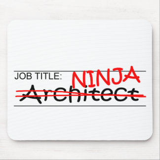 Job Title Ninja Architect Mouse Mat