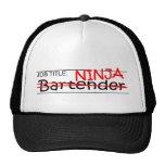 Job Title Ninja Bartender Cap