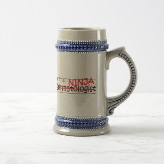 Job Title Ninja - Dermatologist Beer Steins
