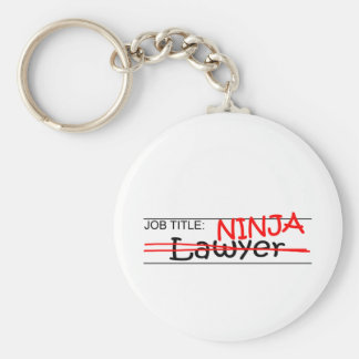 Job Title Ninja - Lawyer Key Ring