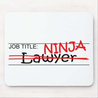 Job Title Ninja - Lawyer Mouse Mat