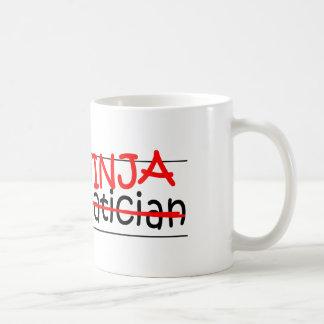 Job Title Ninja - Mathematician Basic White Mug