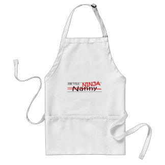 Job Title Ninja - Nanny Standard Apron