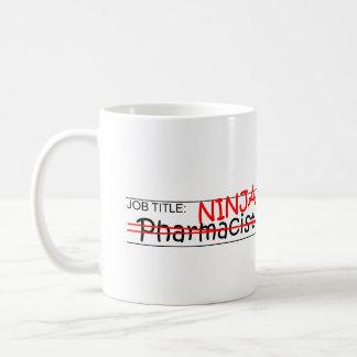 Job Title Ninja - Pharmacist Classic White Coffee Mug