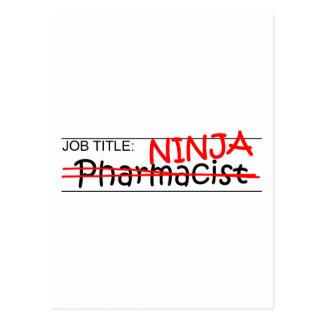 Job Title Ninja - Pharmacist Postcard