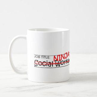 Job Title Ninja - Social Worker Coffee Mug