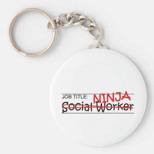 Job Title Ninja - Social Worker Key Ring