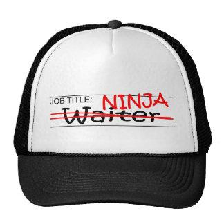 Job Title Ninja - Waiter Mesh Hat