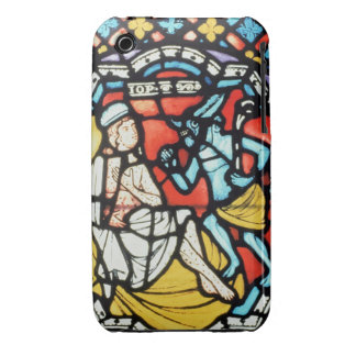 Job tormented by the Devil, 12th century (stained iPhone 3 Covers