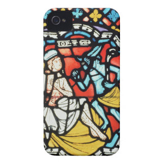 Job tormented by the Devil, 12th century (stained iPhone 4 Covers