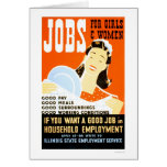 Jobs For Girls Women 1936 WPA Greeting Cards