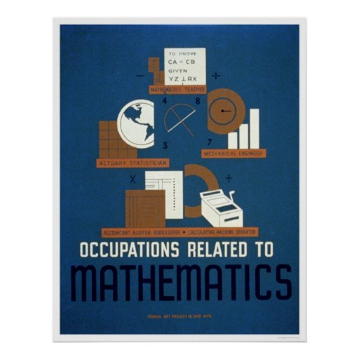 Jobs In Mathematics 1937 WPA Print