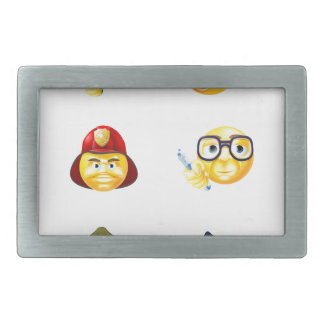 Jobs Occupations Work Emoji Emoticon Set Belt Buckles
