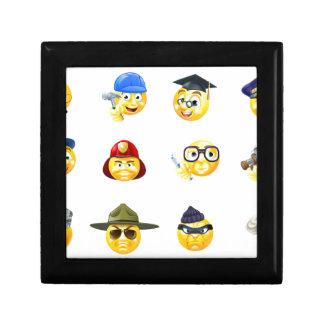 Jobs Occupations Work Emoji Emoticon Set Small Square Gift Box