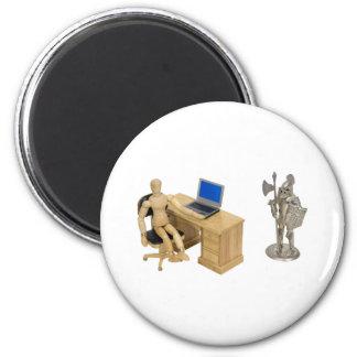 JobSecurity112409 6 Cm Round Magnet