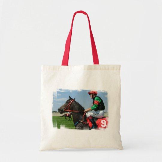 Jockey and Horse Small Canvas Bag
