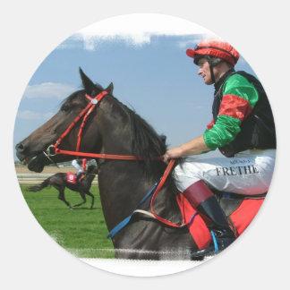 Jockey and Horse Stickers