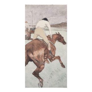 Jockey by Henri de Toulouse-Lautrec Customized Photo Card