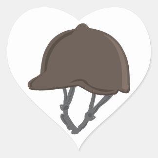 Jockey Helmet Heart Sticker
