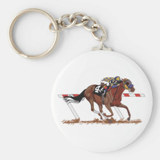 Jockey on Racehorse Key Ring