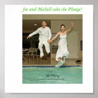 joe and michell take the plunge, Joe and Michel... Print