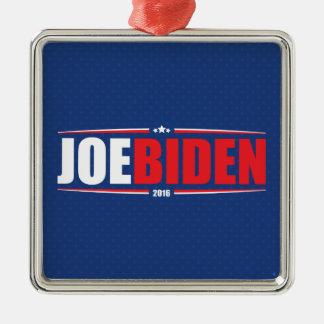 Joe Biden 2016 (Stars & Stripes - Blue) Silver-Colored Square Decoration