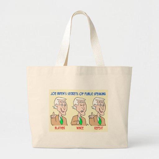 Joe Biden blather wince repeat Tote Bag