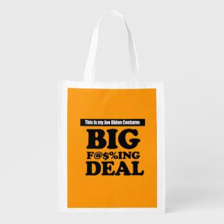 JOE BIDEN COSTUME - Halloween -.png Grocery Bags