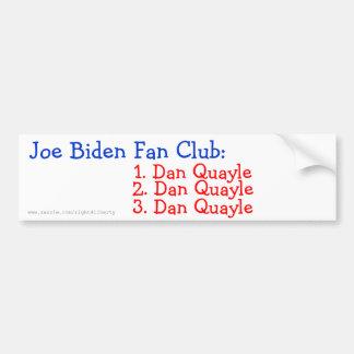 Joe Biden Fan Club: Bumper Sticker