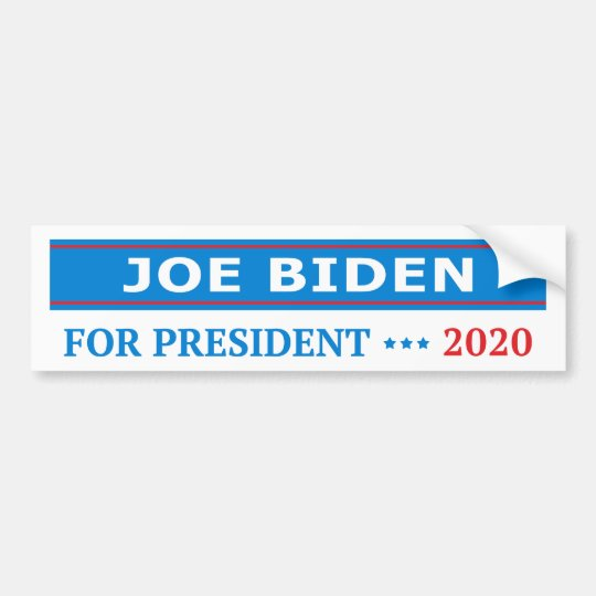 Joe Biden for President 2020 Light Blue Bumper Sticker