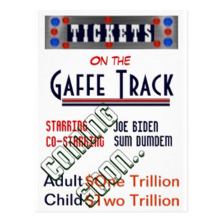 Joe Biden in Gaffe Track Postcard