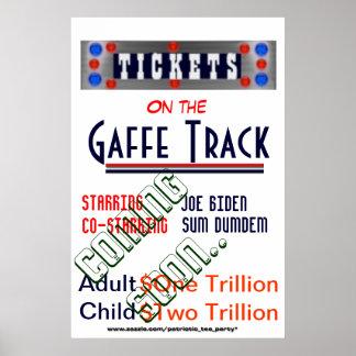 Joe Biden in Gaffe Track Poster