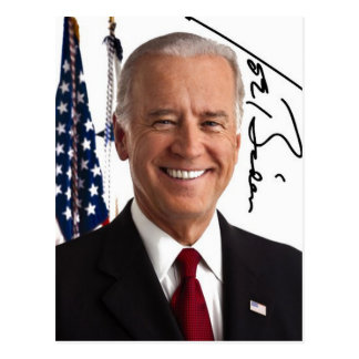 Joe Biden Signature Postcard