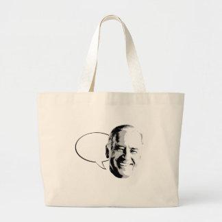 JOE BIDEN TALK BUBBLE -.png Bags