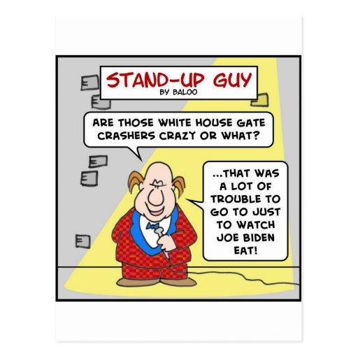 joe biden white house gate crashers post card