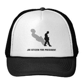 JOE CITIZEN FOR PRESIDENT HATS