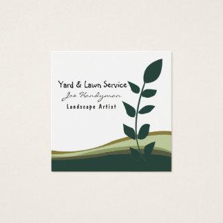 Joe Handyman Lawn Yard Professional Services Square Business Card