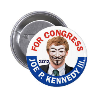 Joe Kennedy Anonymous Occupy 6 Cm Round Badge