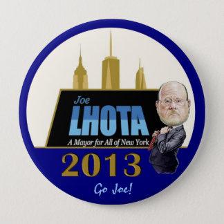 Joe Lhota for NYC Mayor 2013 10 Cm Round Badge
