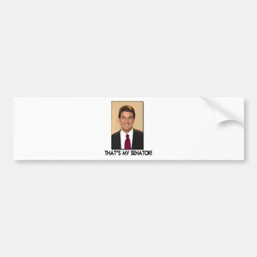 Joe Manchin, That's My Senator! Bumper Sticker