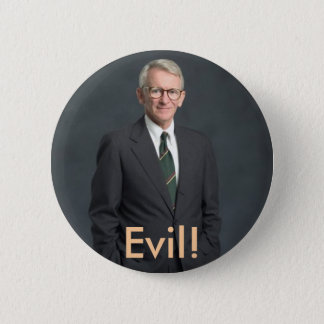 joe riley, Evil! 6 Cm Round Badge