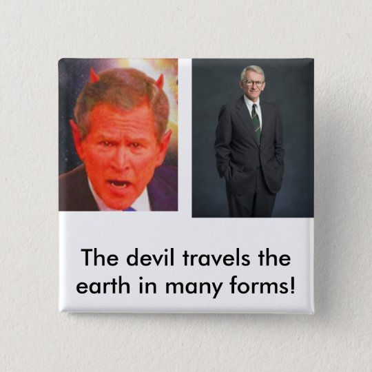 joe riley, SATAN, The devil travel... - Customised 15 Cm Square Badge