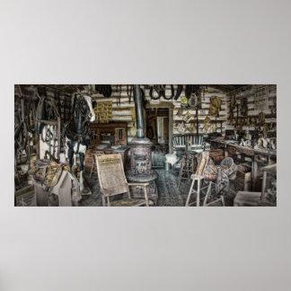 Joe Sullivan Saddlery Shop - Montana Poster